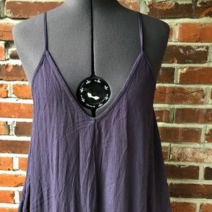 Lovestitch Maxi-Dress Spaghetti Strap Pockets S/M